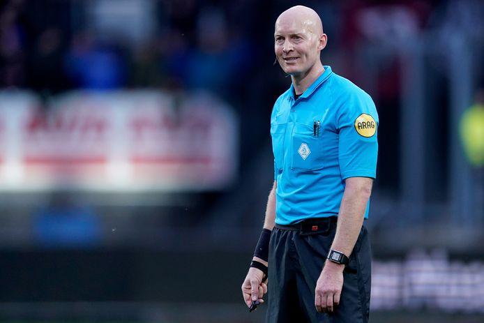 Siemen Mulder afgelopen zondag tijdens Willem II-FC Utrecht. De scheidsrechter fluit vrijdag het duel Go Ahead Eagles-NEC.