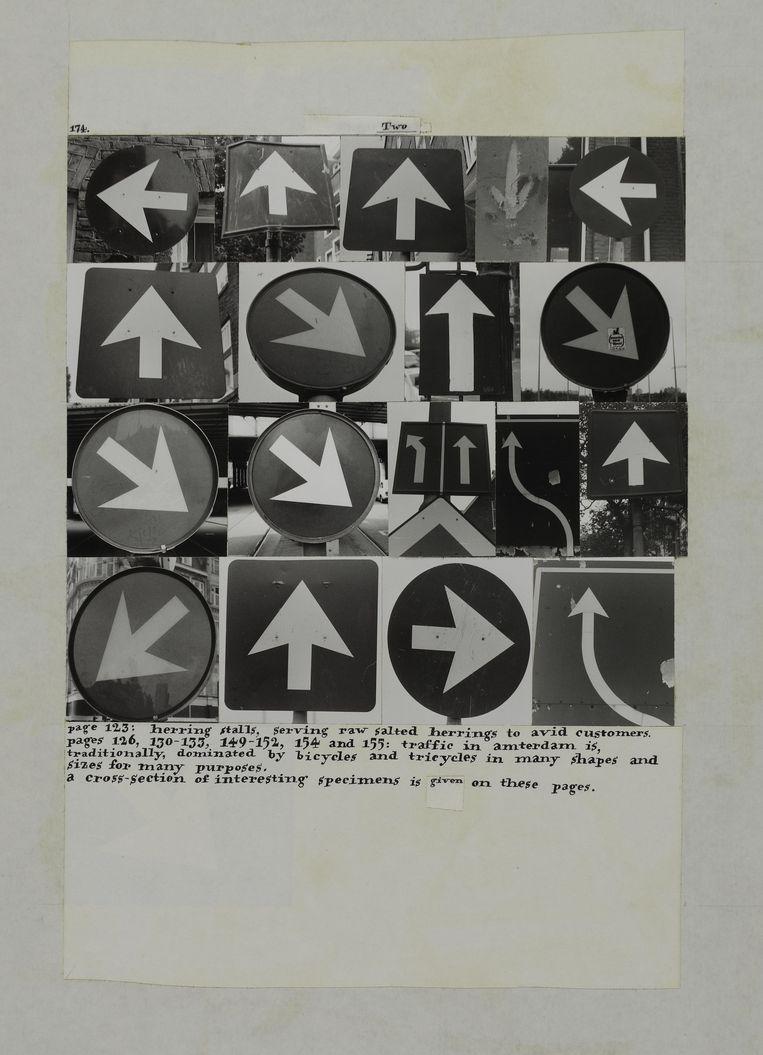 Een collagevel uit  het 700 centenboek Amsterdam van Jos Houweling, die nu te zien zijn in het Centre Pompidou.  Beeld G. Meguerditchian / CentrePompidou