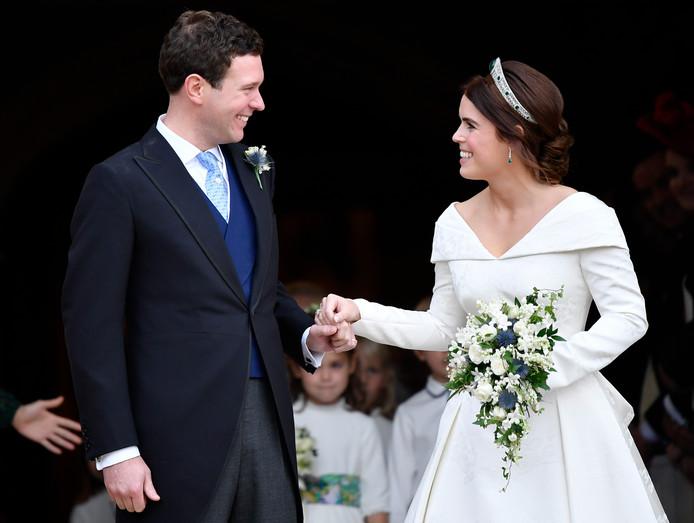 Het paar na de ceremonie.