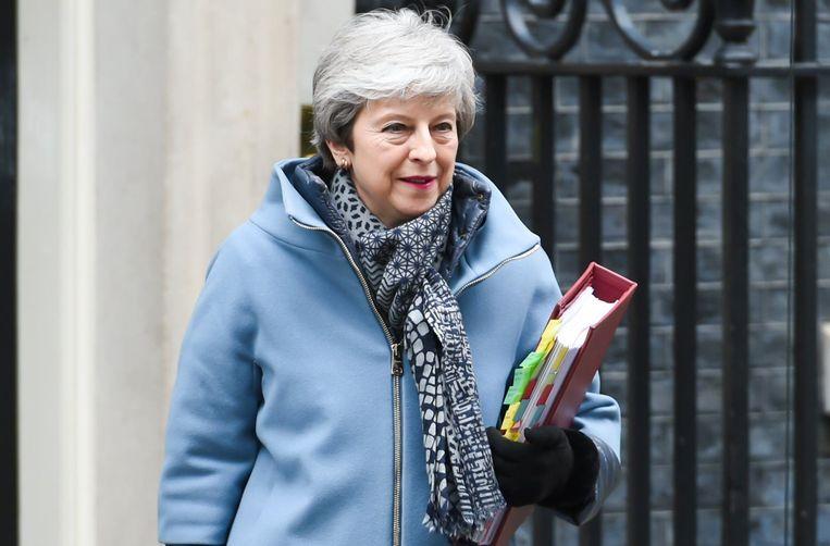 Brits premier Theresa May vecht voor haar politiek overleven.
