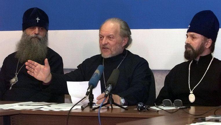 Gleb Jakoenin, een Russisch-orthodoxe priester die zich verzette tegen de Sovjet-autoriteiten en later tegen de Russische staat, en daarvoor tot twee keer toe uit zijn ambt werd gezet en zelfs werd geëxcommuniceerd. Hij overleed vorig week. De foto is uit 2000. Beeld EPA