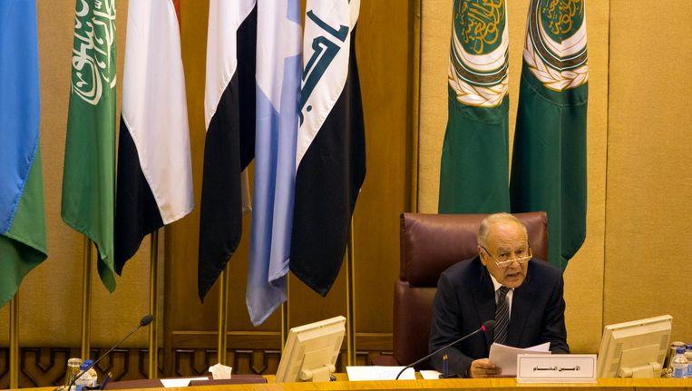 Ahmed Aboul-Gheit, secretaris-generaal van de Arabische Liga. Beeld afp