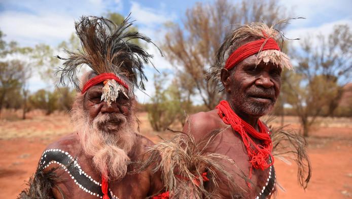 Aboriginals in het noorden van Australië.