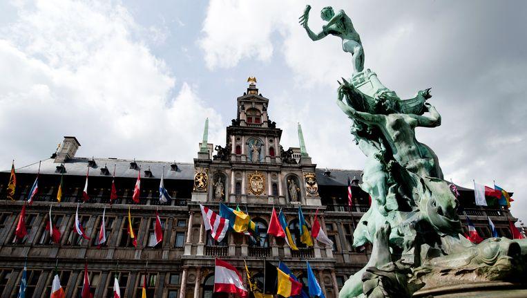Het stadhuis in Antwerpen.