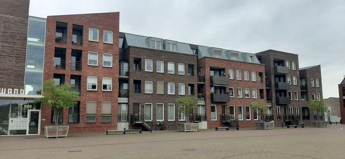 Ook de plantenbakken met bomen op het Anton Pieckplein in Kaatsheuvel staan op de nominatie te verdwijnen.