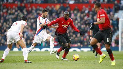 United blijft op de dool: Lukaku en co raken niet voorbij Crystal Palace, verschil met City bedraagt 14 punten