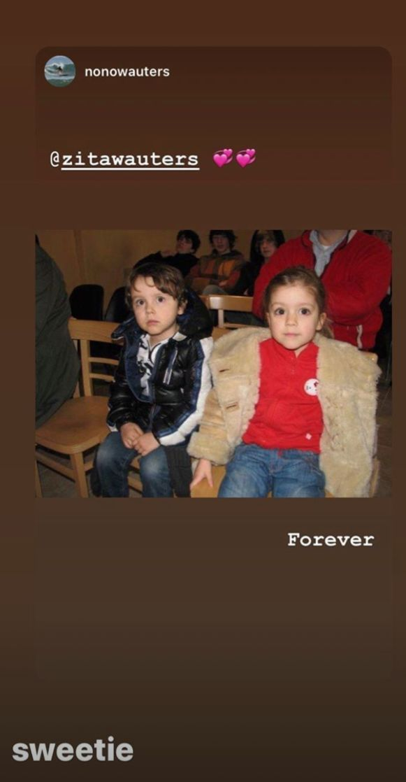 Zita postte de foto van Nono ook op haar Stories.
