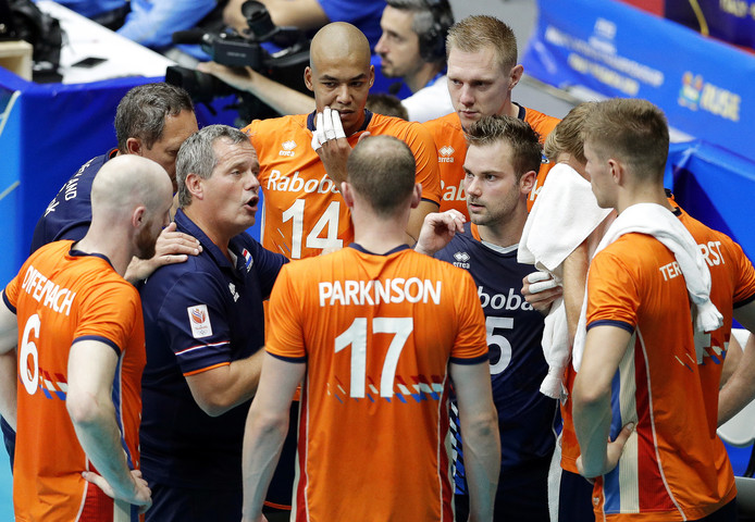 Het Nederlands volleybalteam.