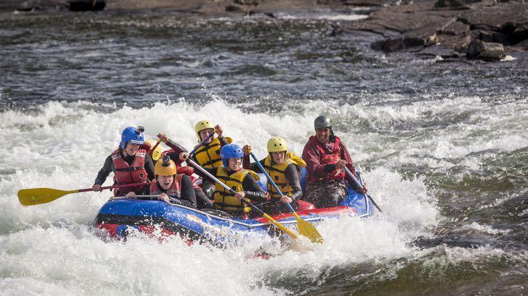 Een van de proeven is raften op een van de beste rivieren van Europa.