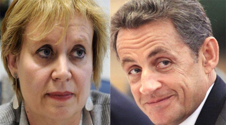 Rechter Isabelle Prevost-Desprez en president Sarkozy. © FOTO'S AFP / EPA Beeld