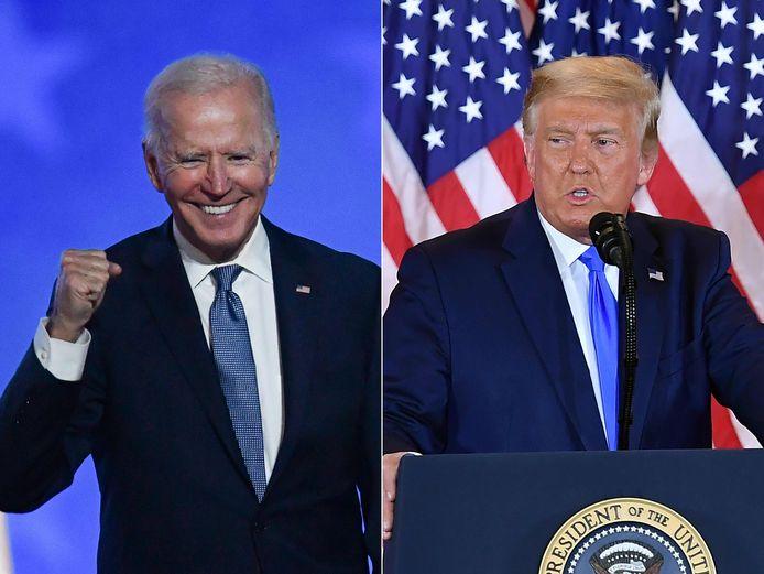 Joe Biden neemt op 20 januari de fakkel over van Donald Trump.