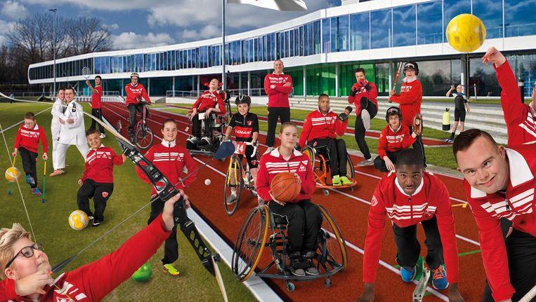 Het Friendship Sports Centre in Amsterdam-Noord is het enige sportcentrum in Europa dat volledig is uitgerust voor kinderen en jongeren met een beperking Beeld Friendship Sports Centre