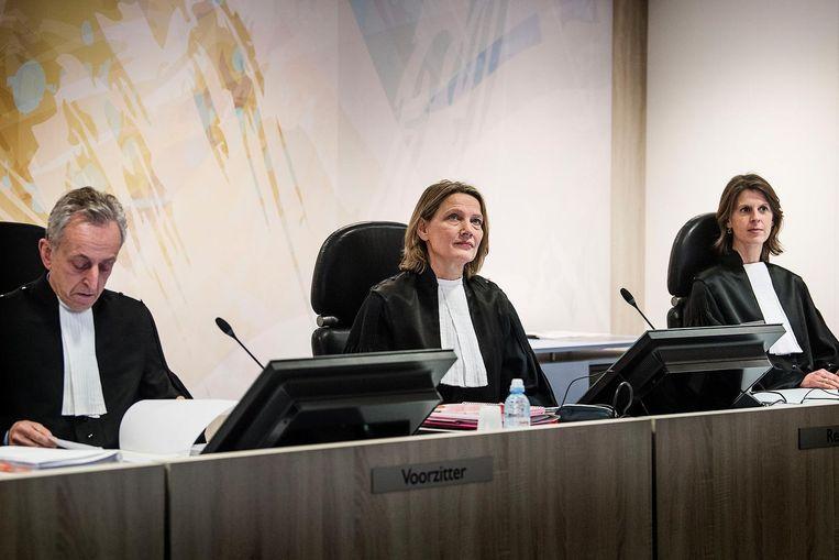 De rechters in het proces Beeld Guus Dubbelman / de Volkskrant