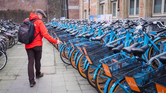 Station in Harelbeke heeft nu twaalf Blue-bikes, waarmee je gratis proefrit kan maken