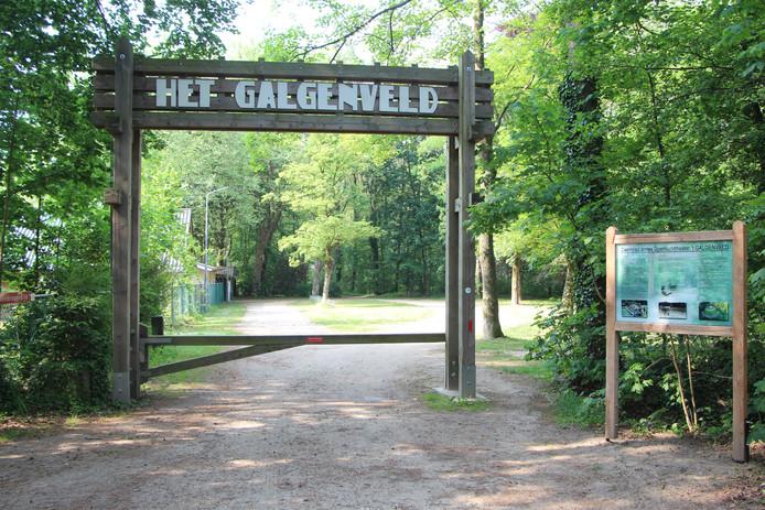 De vernieuwde entree met juist de ouderwetse belettering op de toegangspoort van openluchttheater Het Galgenveld en het gelijknamige openluchtbad.