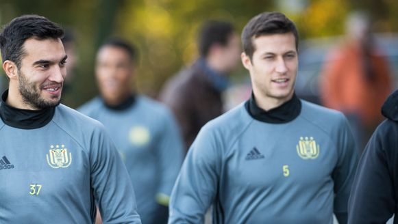 Spajic (r) naast Obradovic.