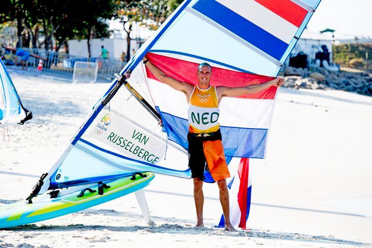Dorian van Rijsselberghe tijdens de Olympische Spelen in Rio (2016).  Beeld ANP