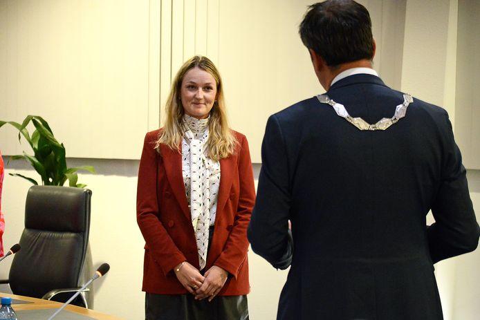 Paula Schot is beëdigd als wethouder namens de SGP voor Schouwen-Duiveland.