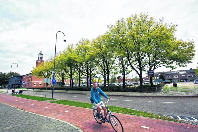 Raadhuisplein in Rijen. foto archief bn destem