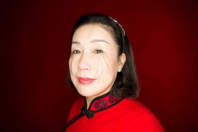 You Jianxia met de langste oogwimpers ter wereld.