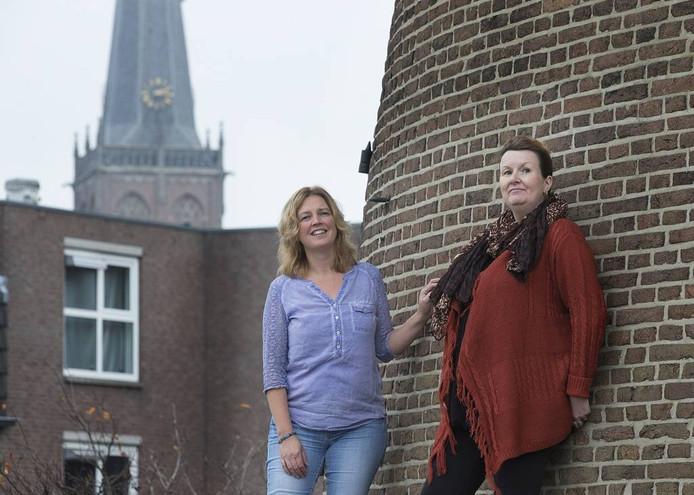 Heidi Heusinkveld en Jennifer Elshof, die zich sterk maken voor de sociale coöperatie.