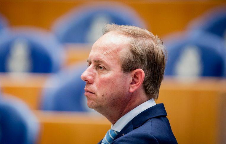 Kees van der Staaij (SGP) in de Tweede Kamer. Beeld ANP