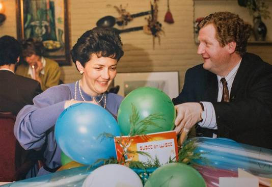 Uit het familiearchief: Senf met zijn vrouw Barry