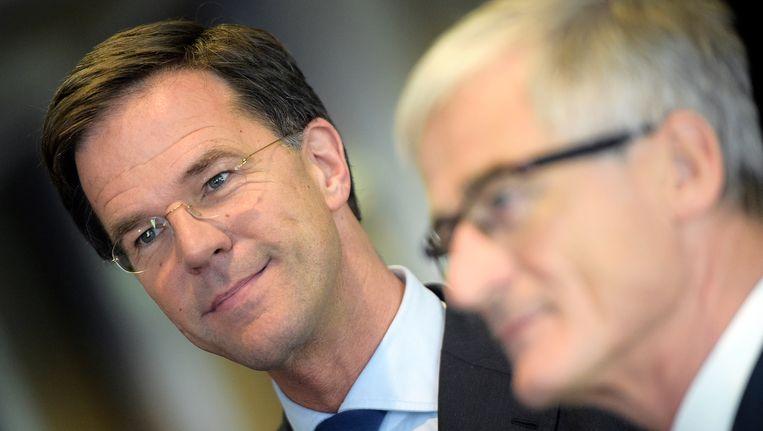 Mark Rutte en Geert Bourgeois.