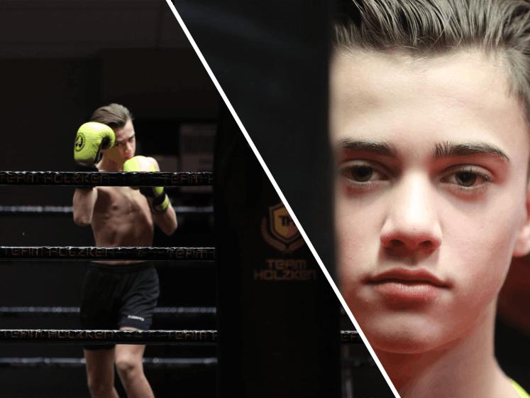 Geraldo Holzken (14) tekent contract bij groot sportmerk
