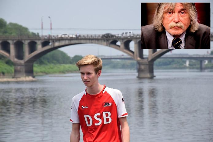 Bowi Jong en Johan Derksen in fotomontage