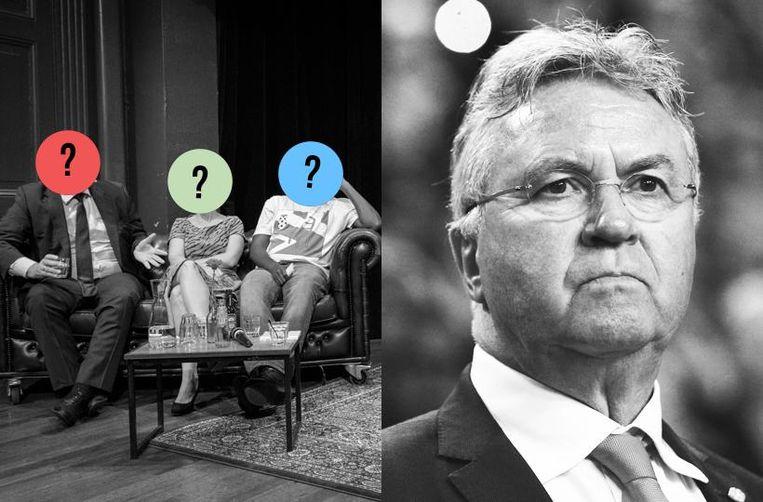 Het publiek weet naar welke antwoorden de interviewers vissen; de hoofdgast niet Beeld De Balie