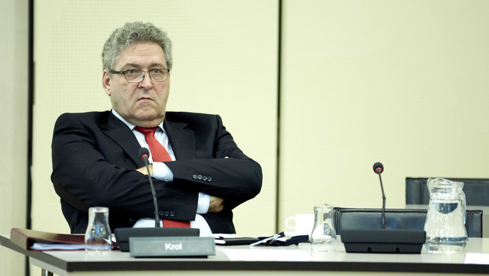 50Plus-Kamerlid Henk Krol in de Tweede Kamer.