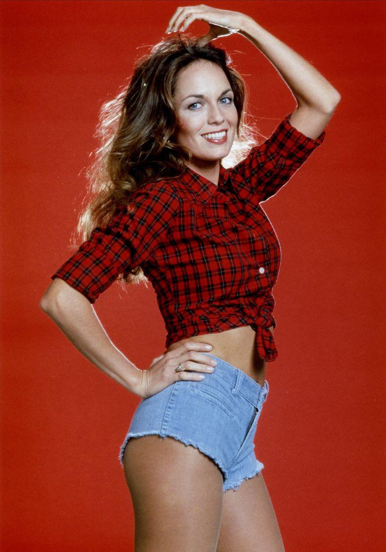 Daisy Duke (Catherine Bach) in de jaren tachtig. Beeld Alamy Stock Photo