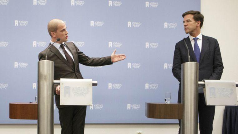 Rutte geeft toe een fout gemaakt te hebben als VVD-onderhandelaar Beeld ANP
