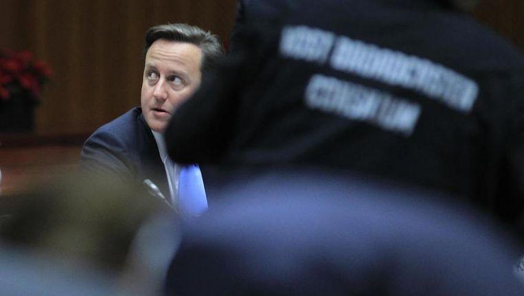 Premier David Cameron in Brussel, vandaag. Beeld reuters