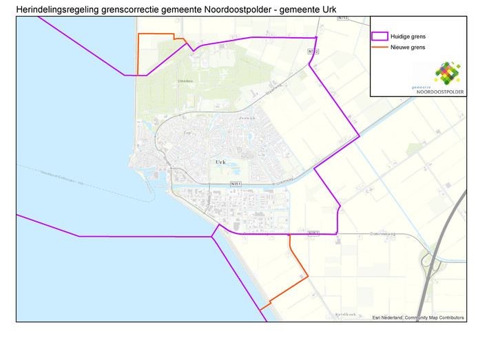 Een natuurgebied ten noorden en een haven ten zuiden van Urk worden mogelijk door de grenscorrectie.
