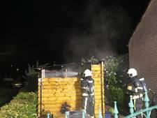 Schuurtje met sauna verwoest door brand op camping in Kaatsheuvel