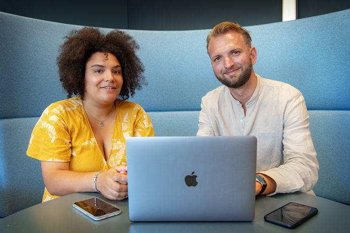 Quirine Wissink en Pieter van der Oest ontwerpen een app voor jonge mensen die een dierbare verloren hebben.