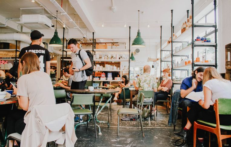 Barber & Parlour, kapperszaak en café in Londen.