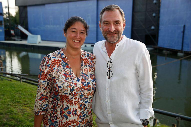 Peter Vande Velde maakte er een gezellig uitje van met partner Debbie.