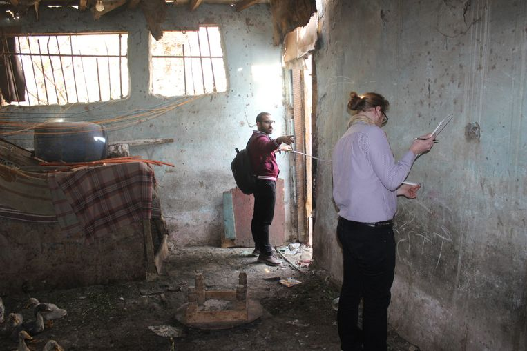 Een huis in een achterstandswijk in Caïro. Beeld