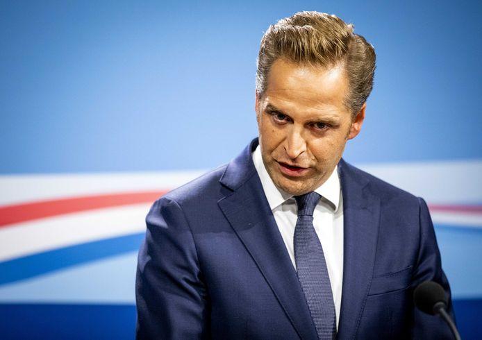 Vicepremier Hugo de Jonge geeft een persconferentie na afloop van de wekelijkse ministerraad.