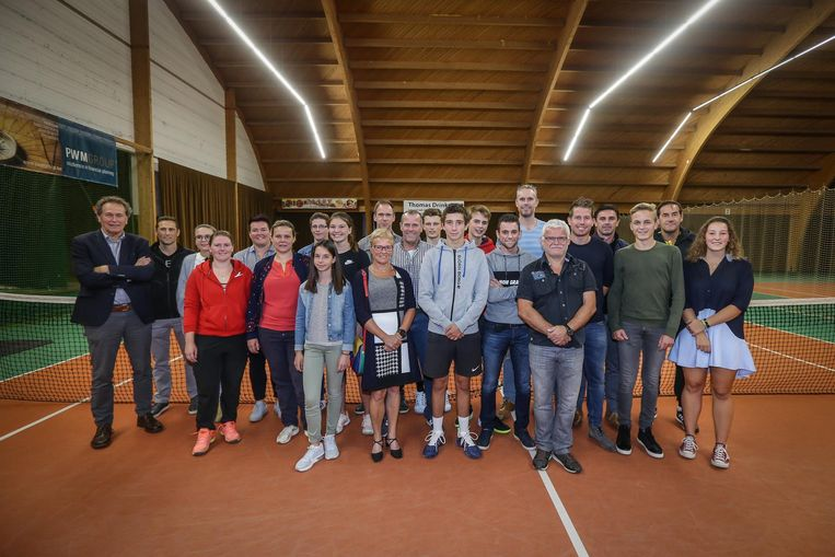 Alle winnaars van de Limburgse Masters op TC Wimbledon bij elkaar.