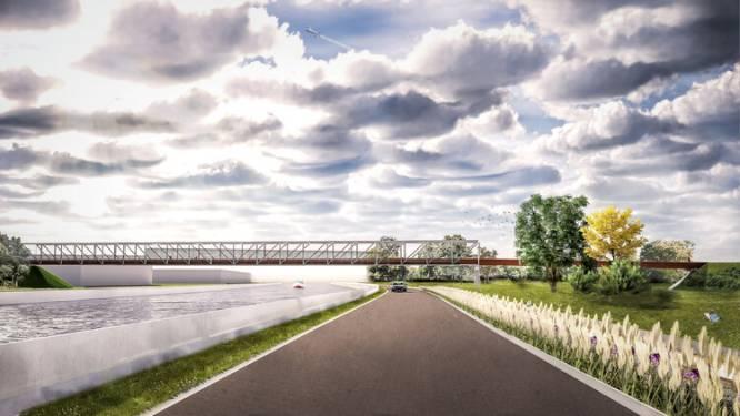 Veilig de R4 over: zo gaat nieuwe fietsbrug tussen Wondelgem en Evergem eruitzien