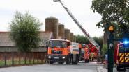 Bliksem slaat in op silo met varkensvoer in Torhout