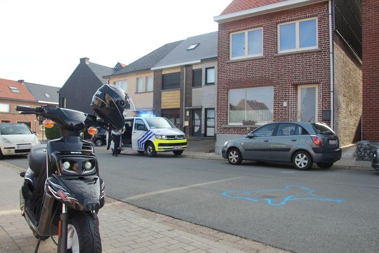 Het ongeval gebeurde bij het verlaten van het bovenste Groendal in Mere.