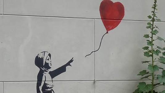 Balloon Girl, de oorspronkelijke muurschildering.