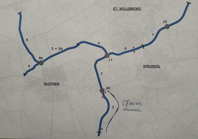 Sinds afgelopen week  kunnen de ontwerptekeningen van het laatste tracé van de rand Rucphen bekeken worden in het gemeentehuis: de zuidtak van zo'n 1.700 meter. Het werk aan de