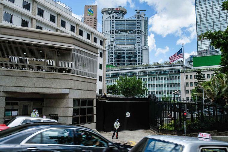 Beeld ter illustratie. De Amerikaanse ambassade in Hongkong.