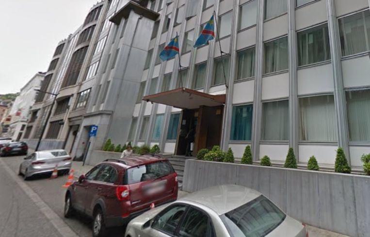 Voorgevel van de Congolese ambassade in Brussel.
